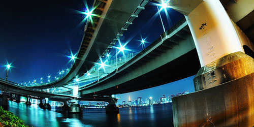 Скачать Bridge in Daiba, Minato-ku, Tokyo