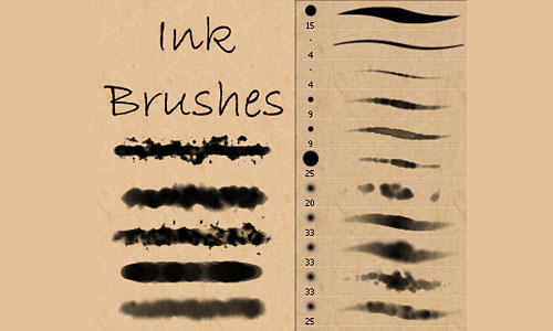 Скачать Ink and Watercolor Brushes