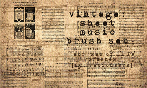Скачать vintage sheet music brushes