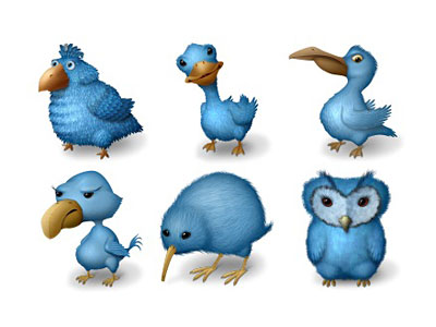 Скачать Ugly Birds Icons