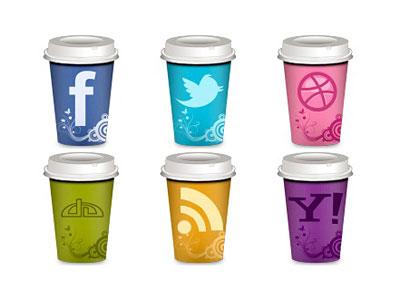 Скачать Social Coffee Icons