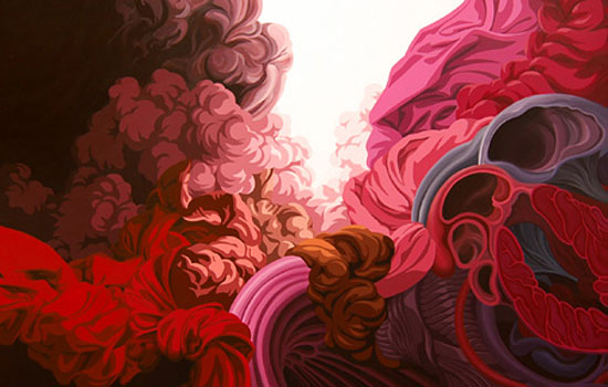 Энергия человеческого тела в цвете и пластике от иллюстратора James Roper