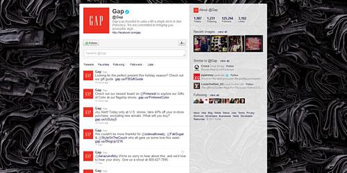 Перейти на @Gap