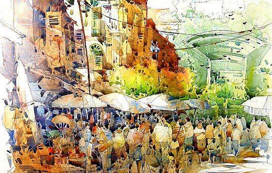 Солнечные урбанистические акварели от иллюстратора Jack TIA Kee Woon
