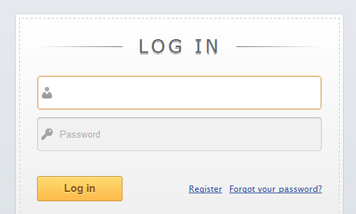 Перейти на Slick login form