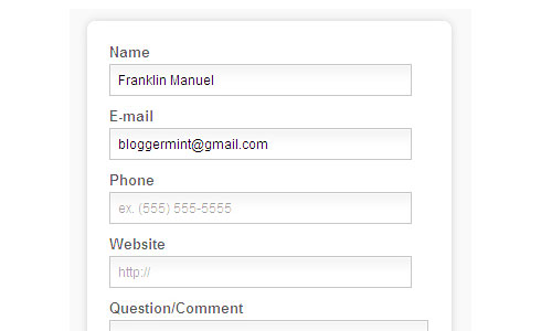Перейти на How To Create A HTML5 Contact Form