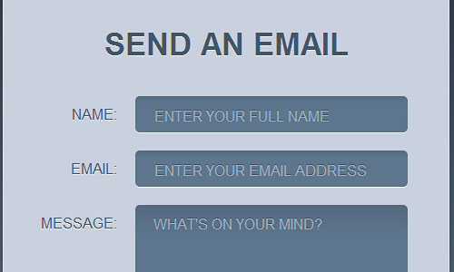 Перейти на Create a Stylish Contact Form with HTML5 & CSS3