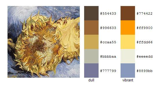 Палитра цветов с картин Винсента ван Гога 8