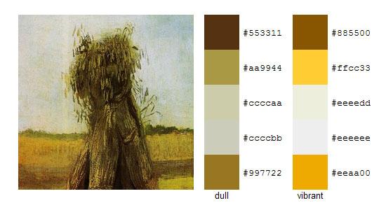 Палитра цветов с картин Винсента ван Гога 19