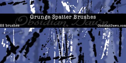 Скачать Grunge Spatters Brushes