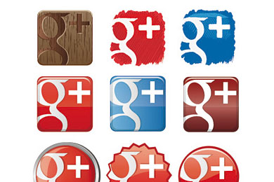 Скачать Free Google Plus Icon Set