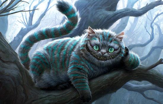 Обаятельная улыбка чеширского кота от иллюстратора Michael Kutsche