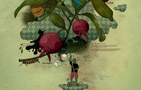 Винтажная изысканность от иллюстратора Leandro Lima из Милана