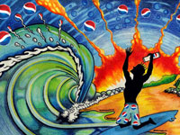 Красочные постеры на тему конкурса Создай Pepsi календарь 2012