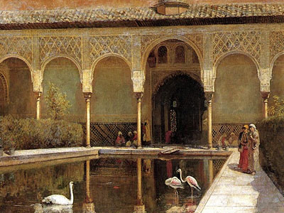 A Court in The Alhambra in the Time of the Moors