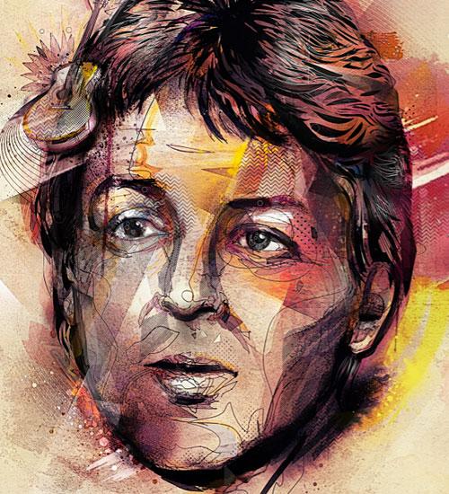 Эклектичные портреты известных персонажей от иллюстратора Yoaz