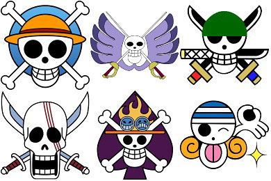 Скачать One Piece Manga Jolly Roger Icons
