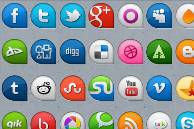 Скачать Beautifull Social Media Icons
