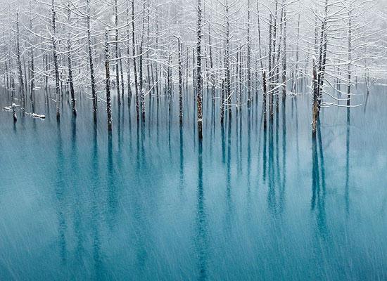 Перейти на Blue Pond, Hokkaido