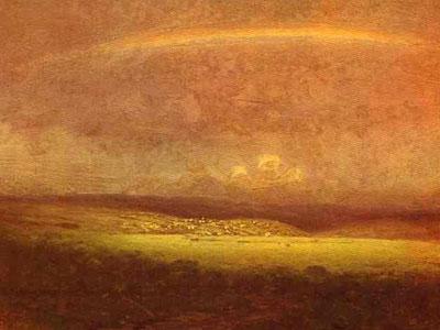 After a Rain. Rainbow
