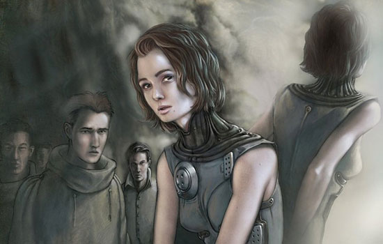 Отважные женщины и мужественные воины от иллюстратора Colin M. Winkler