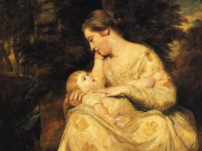 Mrs Richard Hoare and Child