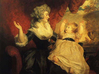 Georgiana, Duchess of Devonshire, and Her Daughter
