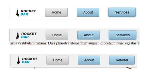 Перейти на Анимированный кнопки меню