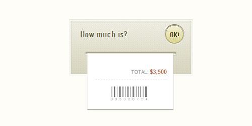 Перейти на Анимированный чек с ценой