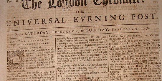 Скачать Newspaper from 1758