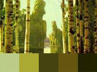 20 готовых цветовых палитр с восхитительных работ Архипа Куинджи