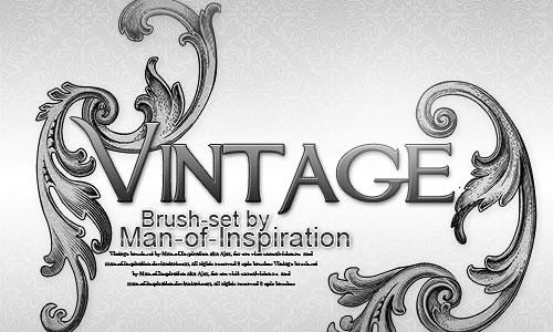 Скачать Vintage brush set