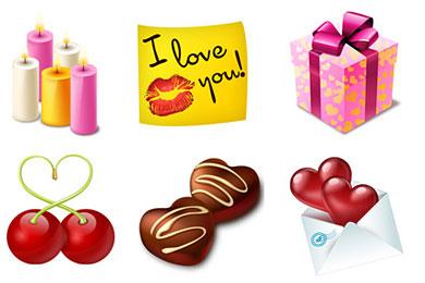 Скачать Valentines Icon Set