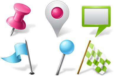 Скачать Vista Map Markers Icons