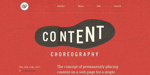 Перейти на Content Choreography