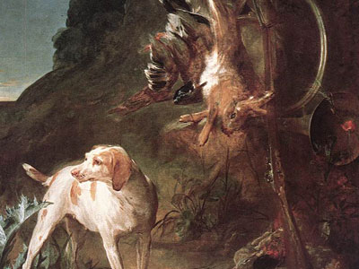 Game Still­Life with Hunting Dog