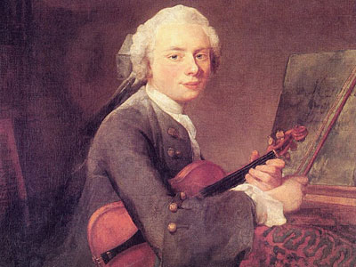 Young Man with a Violin (Charles Godefroy)