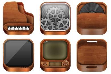 Скачать Wooden Icons