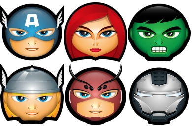Скачать Superhero Avatar Icons