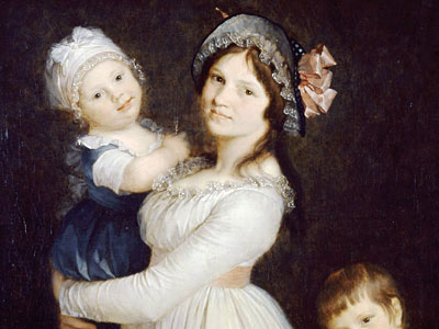 Madame Georges Anthony et ses deux fils