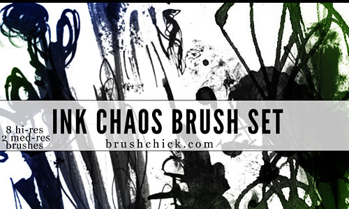 Скачать Ink and Chaos Brush Pack