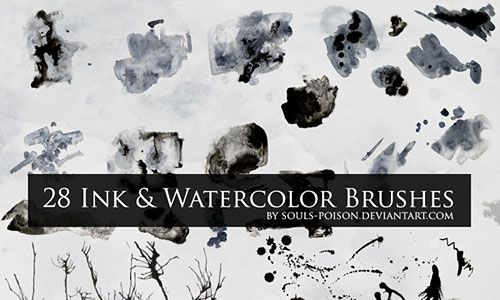 Скачать 28 Ink and Watercolor Brushes