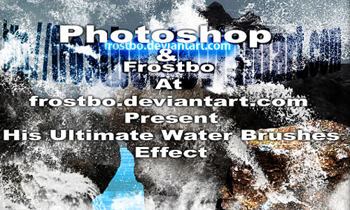 Скачать Ultimate Water Splash Brushes Photoshop SET