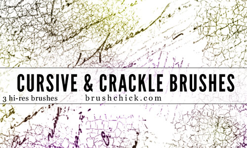 Скачать Cursive and Crackle Brush Pack