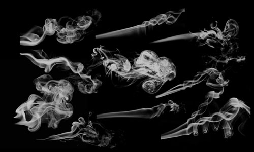 Скачать 10 photoshop smoke brushes 2