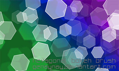 Скачать Hexagonal Bokeh Brush