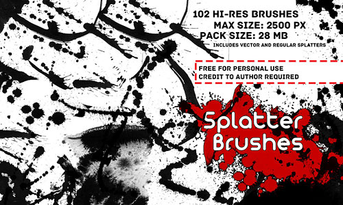 Скачать Splatter Brush Pack Vol 3