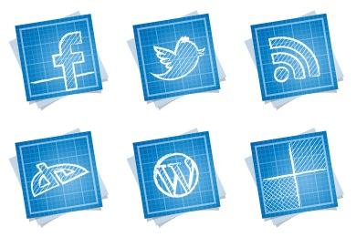 Скачать Blueprint Social Icons By Double J Design