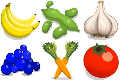 Скачать Veggies Icons By Iconicon