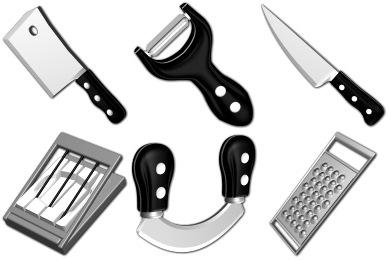 Скачать Sharp Kitchen Icons By Sirea